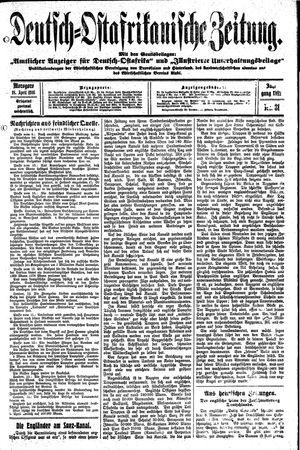 Deutsch-Ostafrikanische Zeitung on Apr 18, 1916