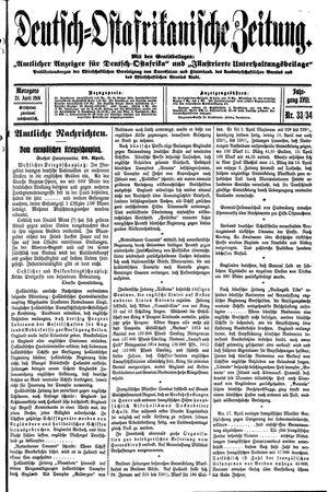Deutsch-Ostafrikanische Zeitung vom 28.04.1916
