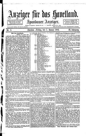 Anzeiger für das Havelland vom 05.01.1906