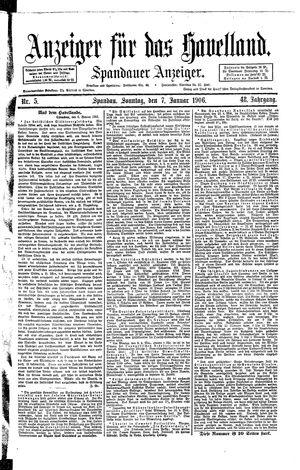 Anzeiger für das Havelland on Jan 7, 1906