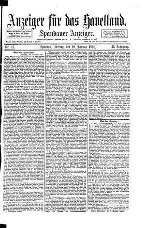 Anzeiger für das Havelland vom 19.01.1906
