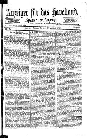 Anzeiger für das Havelland vom 20.01.1906