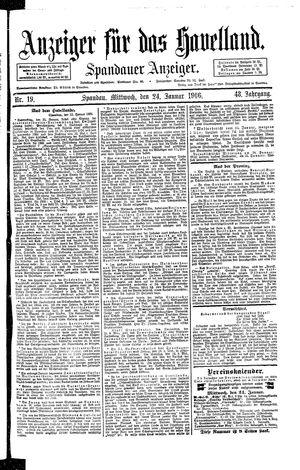 Anzeiger für das Havelland vom 24.01.1906
