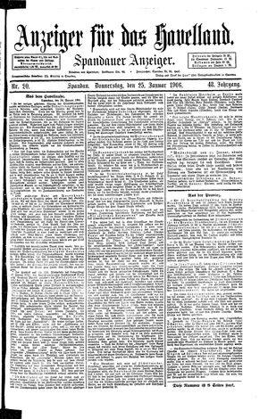 Anzeiger für das Havelland vom 25.01.1906