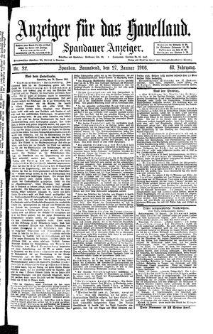 Anzeiger für das Havelland vom 27.01.1906