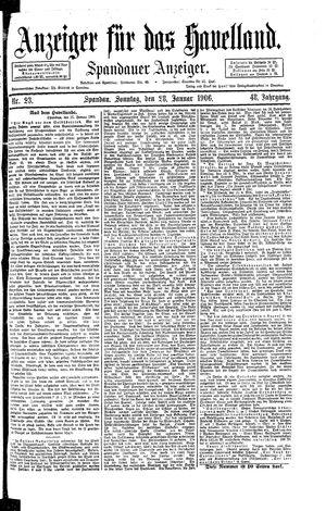 Anzeiger für das Havelland vom 28.01.1906