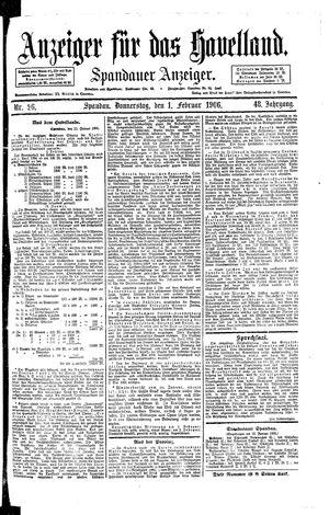 Anzeiger für das Havelland on Feb 1, 1906