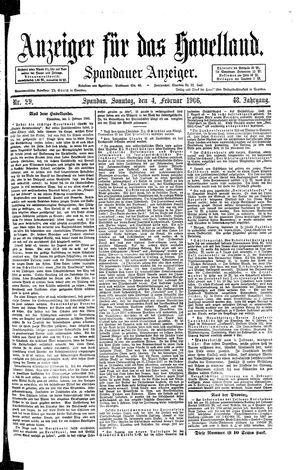Anzeiger für das Havelland on Feb 4, 1906