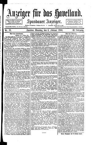 Anzeiger für das Havelland vom 06.02.1906