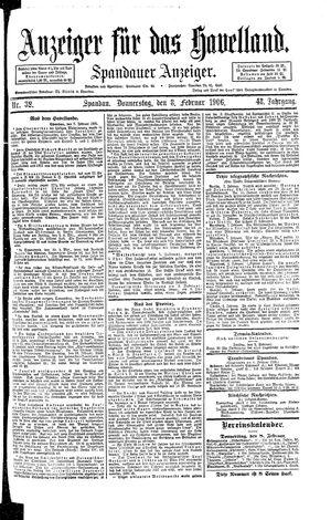 Anzeiger für das Havelland on Feb 8, 1906