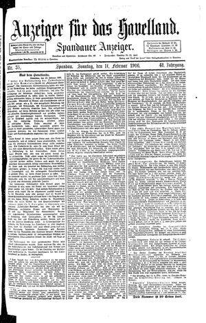 Anzeiger für das Havelland vom 11.02.1906