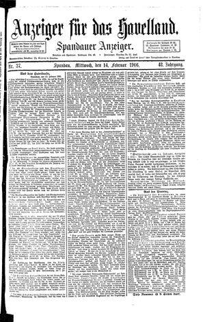 Anzeiger für das Havelland on Feb 14, 1906