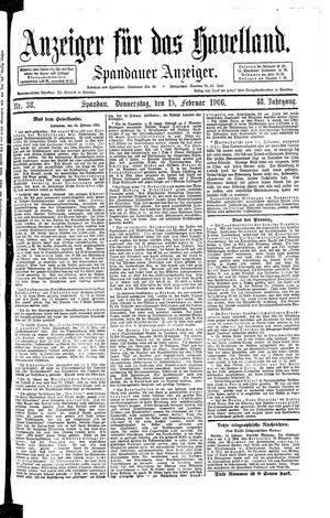Anzeiger für das Havelland vom 15.02.1906