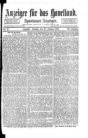 Anzeiger für das Havelland vom 25.02.1906