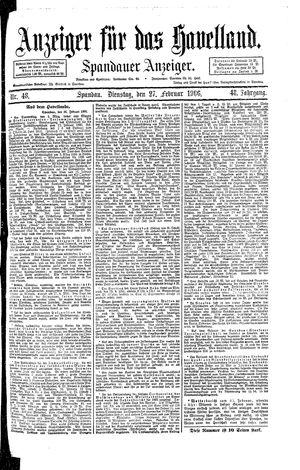 Anzeiger für das Havelland vom 27.02.1906