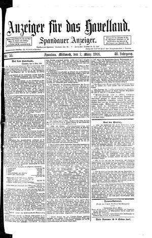 Anzeiger für das Havelland vom 07.03.1906