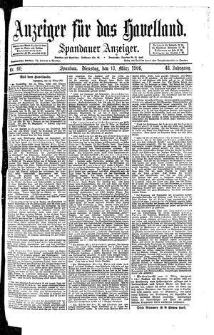 Anzeiger für das Havelland vom 13.03.1906