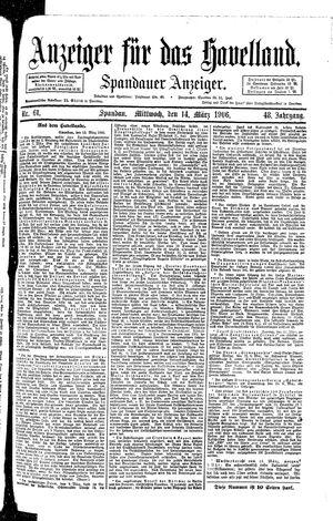 Anzeiger für das Havelland vom 14.03.1906