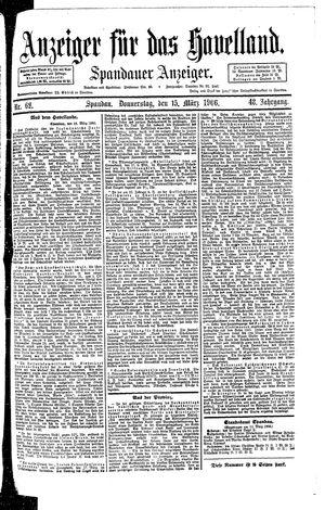 Anzeiger für das Havelland vom 15.03.1906