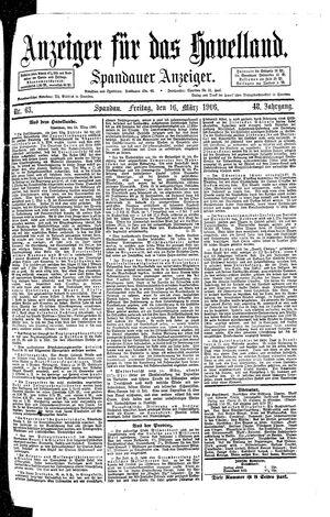 Anzeiger für das Havelland vom 16.03.1906