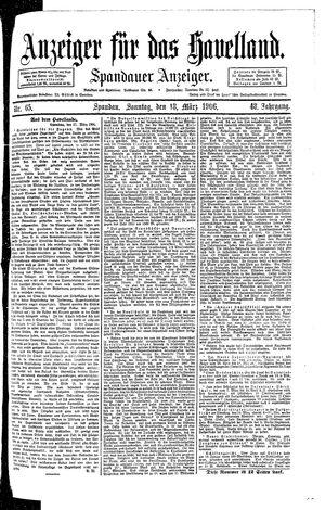 Anzeiger für das Havelland vom 18.03.1906