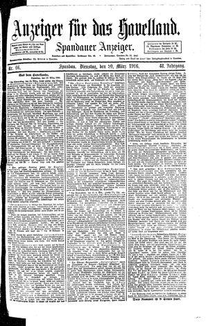 Anzeiger für das Havelland vom 20.03.1906