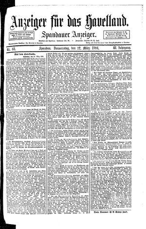 Anzeiger für das Havelland vom 22.03.1906