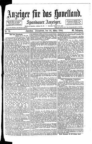 Anzeiger für das Havelland vom 24.03.1906