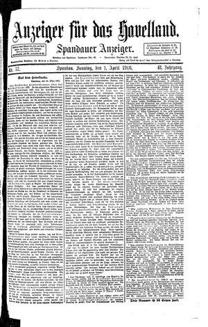 Anzeiger für das Havelland vom 01.04.1906