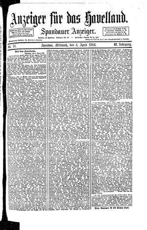 Anzeiger für das Havelland vom 04.04.1906