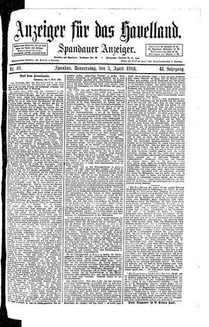 Anzeiger für das Havelland vom 05.04.1906