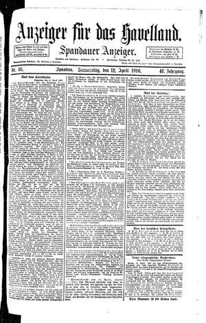 Anzeiger für das Havelland vom 12.04.1906