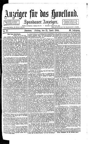 Anzeiger für das Havelland vom 13.04.1906