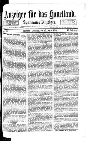Anzeiger für das Havelland vom 15.04.1906