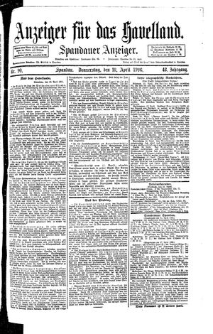 Anzeiger für das Havelland vom 19.04.1906