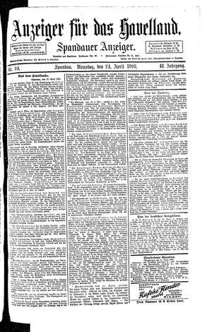 Anzeiger für das Havelland vom 24.04.1906