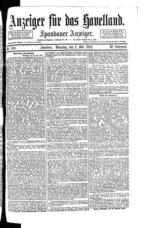 Anzeiger für das Havelland vom 01.05.1906