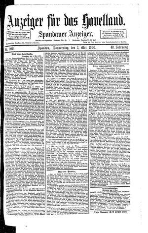 Anzeiger für das Havelland vom 03.05.1906