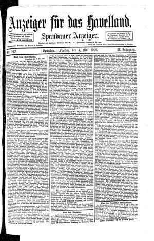 Anzeiger für das Havelland vom 04.05.1906