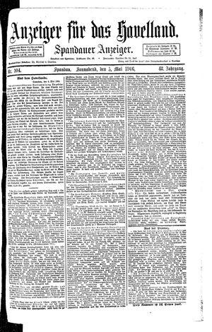 Anzeiger für das Havelland vom 05.05.1906