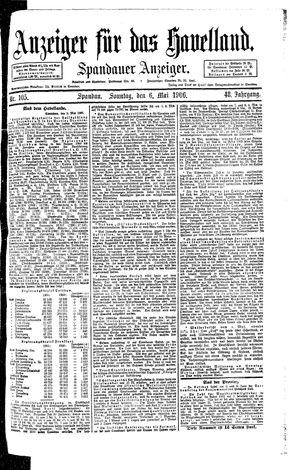 Anzeiger für das Havelland vom 06.05.1906