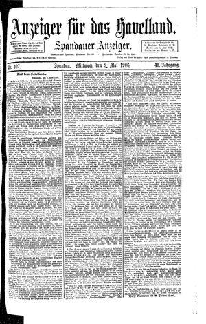 Anzeiger für das Havelland vom 09.05.1906
