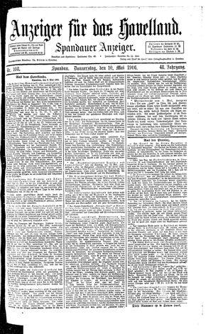 Anzeiger für das Havelland vom 10.05.1906