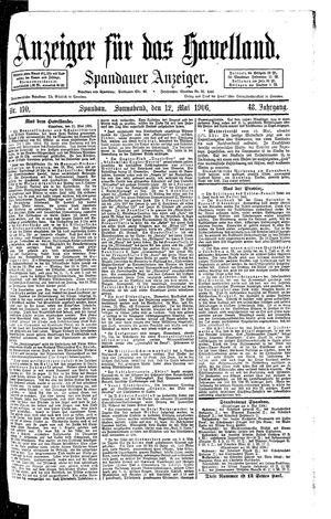 Anzeiger für das Havelland vom 12.05.1906