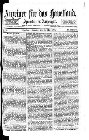 Anzeiger für das Havelland vom 13.05.1906