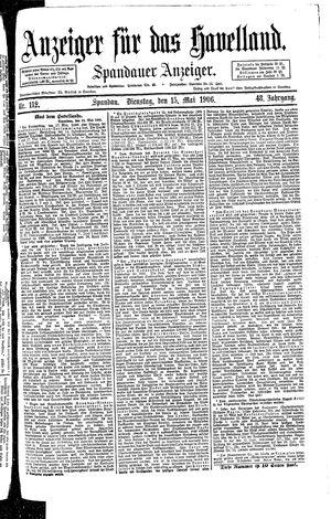 Anzeiger für das Havelland on May 15, 1906