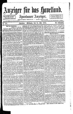 Anzeiger für das Havelland vom 16.05.1906