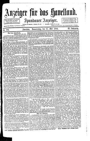 Anzeiger für das Havelland vom 17.05.1906