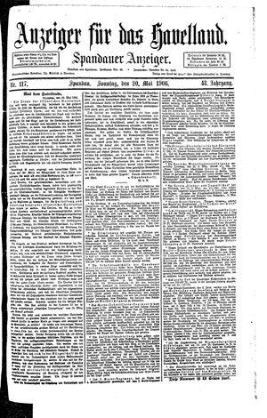 Anzeiger für das Havelland vom 20.05.1906