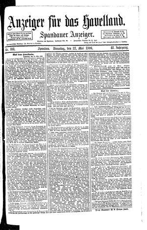 Anzeiger für das Havelland vom 22.05.1906